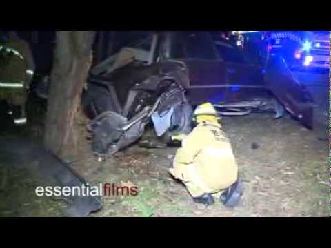 Car ploughs into a tree - Nowra