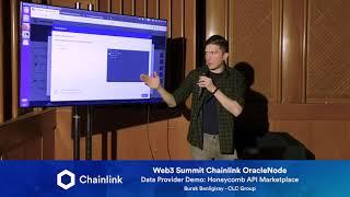 Chainlink Web3 Summit OracleNode: Data Provider Demo - Honeycomb API Marketplace