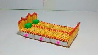 How to make Matchstick box Bed / Matchstick Art
