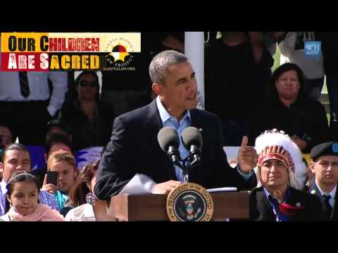 Obama Speaks at Standing Rock and clips from May, 2013 ICWA Summit