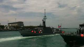 Patrol vessel leaving navy base