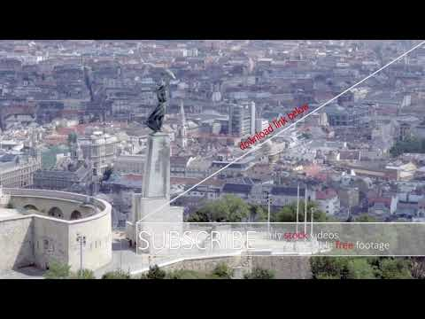Budapest aerial - STOCK FOOTAGE - STOCK VIDEO