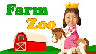 Semra Visits The Farm Zoo.   Farm Zoo Animals For Children And Toddlers.