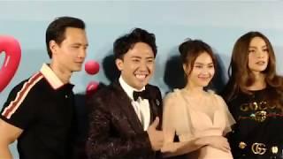 Hồ Ngọc Hà nắm tay Kim Lý đến xem ra mắt phim của Trấn Thành và Lan Ngọc