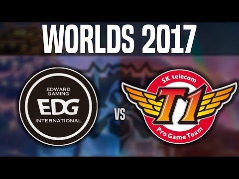 EDG vs SKT - (Best Game Worlds!) - Worlds 2017 Group Stage Day 2 - Edward Gaming vs SKT T1 | Worlds