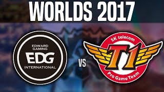 EDG vs SKT - (Best Game Worlds!) - Worlds 2017 Group Stage Day 2 - Edward Gaming vs SKT T1 | Worlds