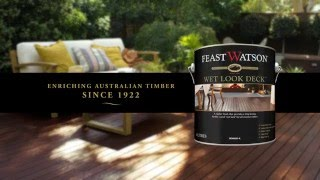 How do I achieve the �wet look� on my timber deck?
