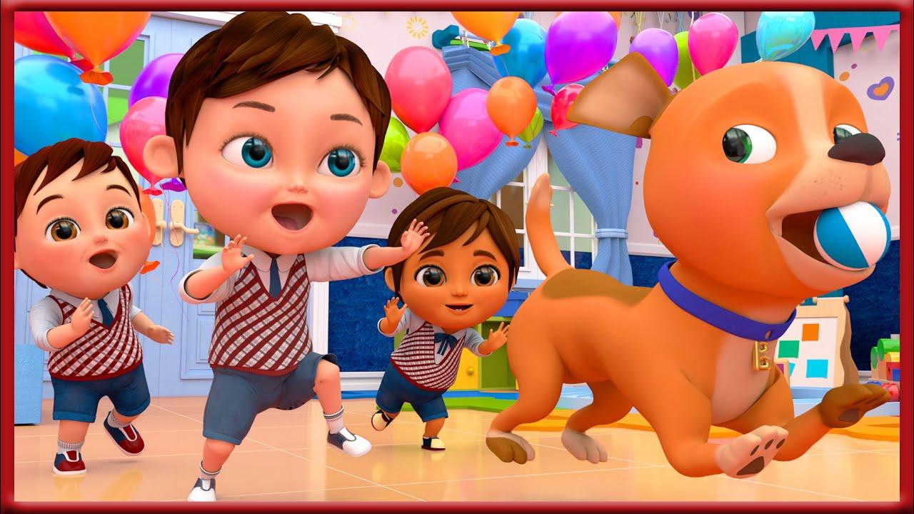 Bingo School Dog Song , Baby Shark , Wheels on the Bus , Happy Birthday Song - Banana Cartoon [HD]