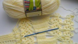 Манишка (накидка) крючком. Часть 1.  Crochet Poncho, Cape.