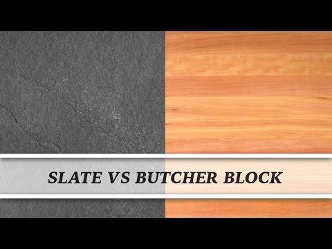Slate vs Butcher Block | Countertop Comparison