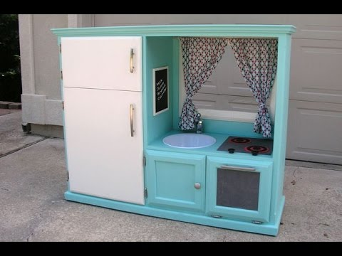 Convert An Old Tv Cabinet Into A Kids Play Kitchen
