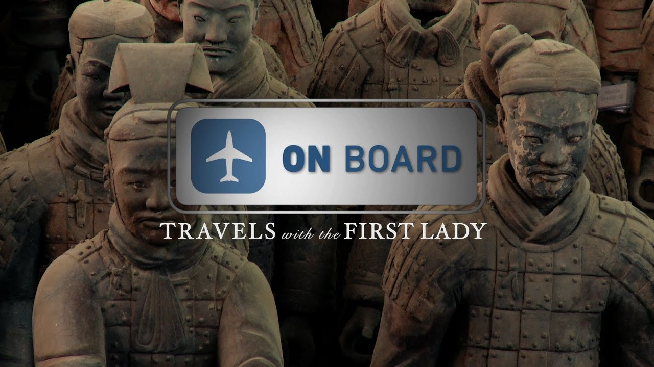 On Board Travels With The First Lady In China Terracotta Warriors