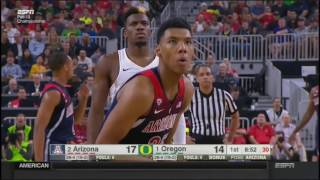 (NCAAM) PAC12 Final #7 Arizona at #5 Oregon in 40 Minutes - 3/12/2017