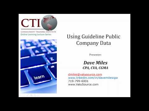 New and Substantially Enhanced Guideline Public Company Database