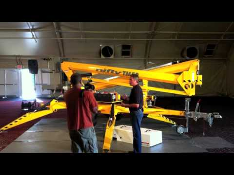 Product Review: Niftylift TM50 Trailer-Mounted Boom Lift - YouTube on