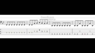 ベースTAB譜  vistlip  BLACK MATRIX【千銃士ED】