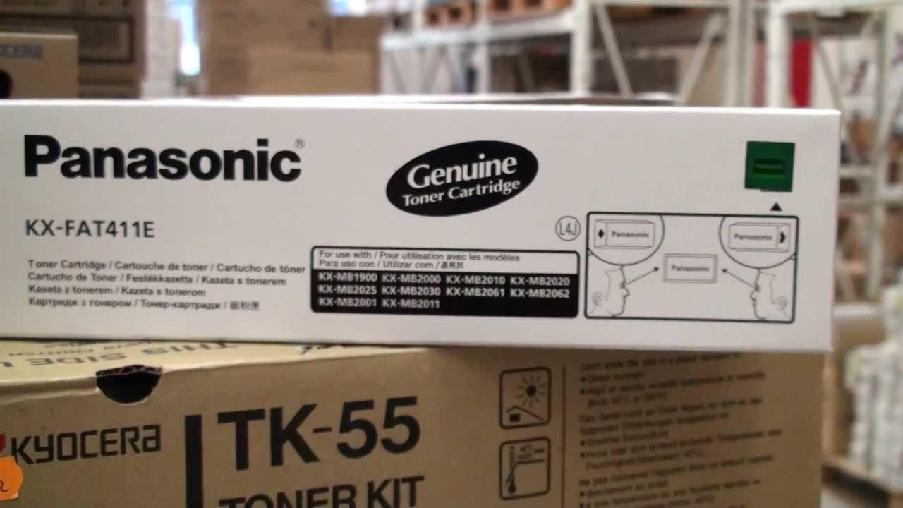 Panasonic Toner Cartridge KX-FAT411 - YouTube