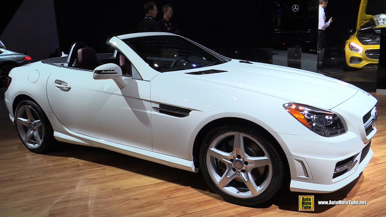 2015 mercedes benz slk class slk350 roadster exterior and interior walkaround 2014 la auto show youtube