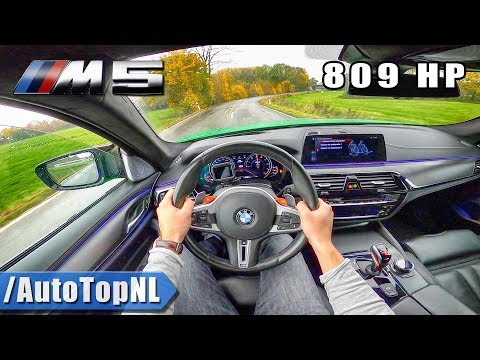 809HP BMW M5 F90 | LOUD! POV Test Drive By AutoTopNL