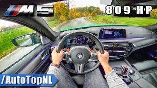 809hp BMW M5 F90 | LOUD!  POV Test Drive by AutoTopNL