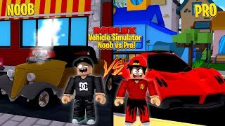 ROBLOX - VEHICLE SIMULATOR, NOOB vs PRO!!
