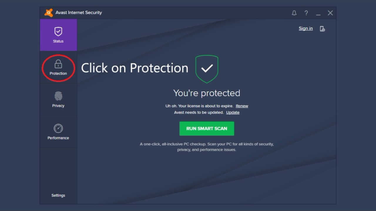 avast web shield blocking internet access