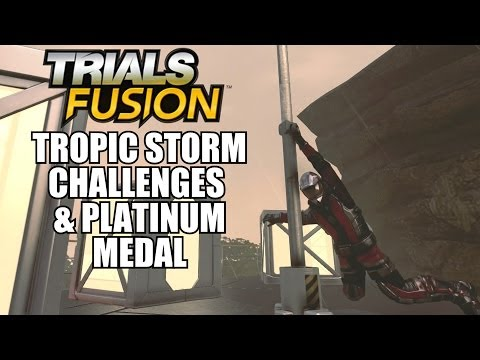Trials Fusion Tropic Storm Full Throttle 3 Shocking Baggie Wash Challenges and Platinum Medal Xbox O