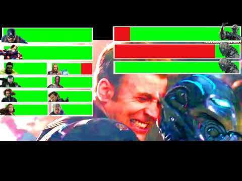 Avengers: Age of Ultron Final Battle with healthbars