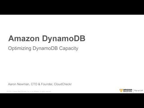Amazon DynamoDB April 2016 Day at the NY Loft - Optimizing DynamoDB with CloudCheckr