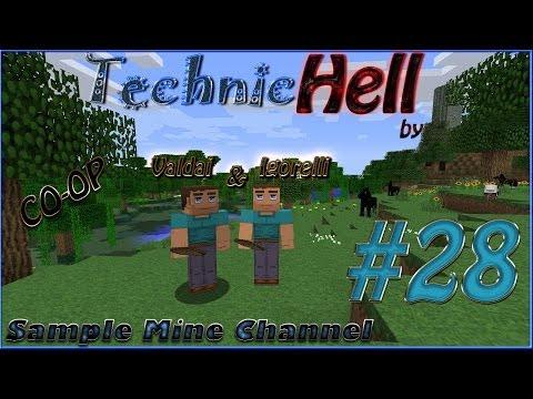 Minecraft 1.5.2 Technic Hell (Coop) [Серия 28] Любой ценой до 30 левела!