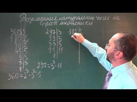 Как разложить число 1890 на простые множители