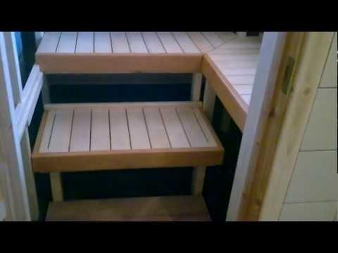 видео: Сауна с раздвижными полками