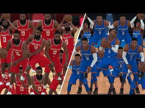 15 James Hardens vs 15 Russell Westbrooks! Who Is The Real M.V.P? NBA 2K18 Gameplay!