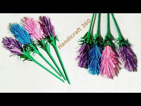 Very Easy Diy Crafts   Make Beautiful Lavender Paper Flowers   Handicraft 360