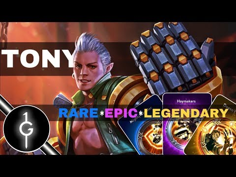 Vainglory New Hero Tony All Talent Gameplay ( Rare, Epic, and Legendary Talent) | Update 3.1