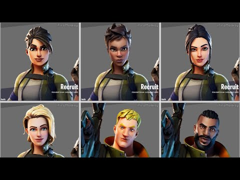 All New Fortnite Default Skin Styles.! (Chapter 2)