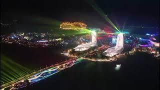 Light show on Ocean Flower Island
