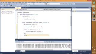 إنشاء نافذة تسجيل الدخول في Visual Studio 2010 باستخدام سي شارب (C#) اللغة