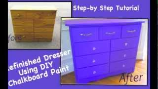 Diy Chalkboard Paint Dresser Refinish Tutorial