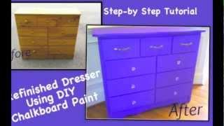 Diy Chalkboard Paint Dresser Refinish Tutorial
