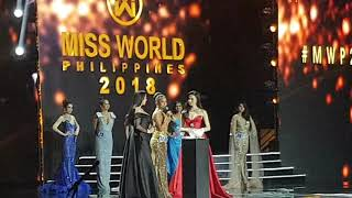 Miss World Philippines 2018 Top 10 Question and Answer