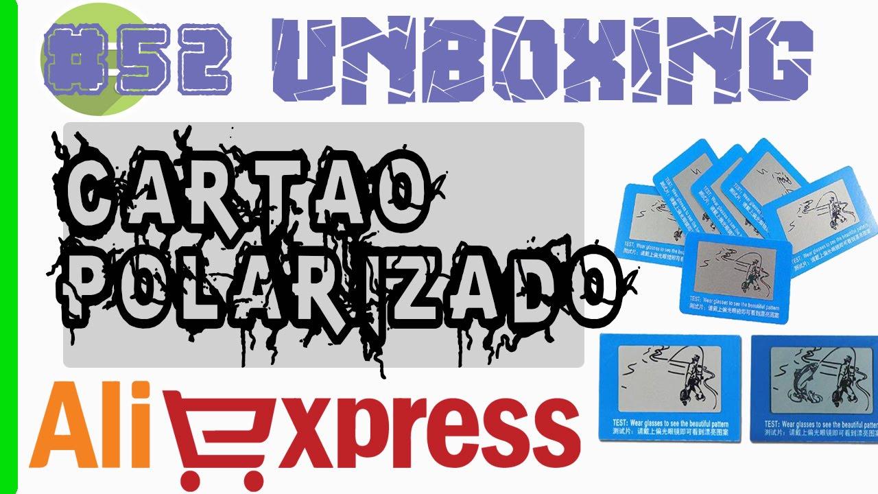 d0aa602691161 Unboxing  52 - Aliexpress - Cartão de Teste Polarizado - YouTube
