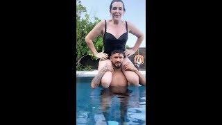 Selin Ciğerci Ve Sevgilisinin Havuz Keyfi.#selinciğerci