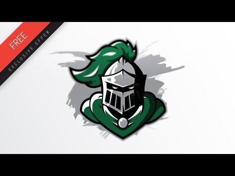 knight logo design youtube