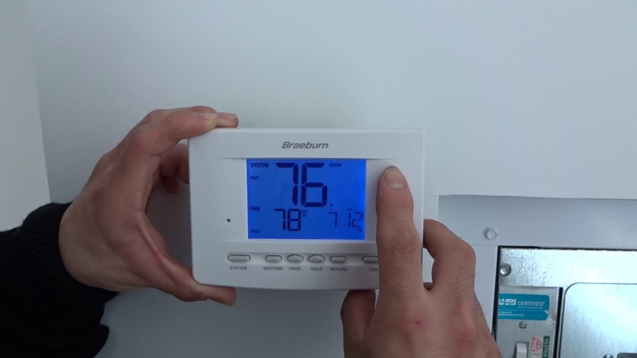 Braeburn Thermostat How To Youtube