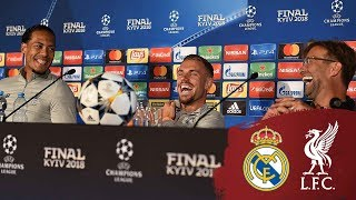 Klopp, Henderson & Van Dijk's Champions League press conference from Kiev | Real Madrid thumbnail