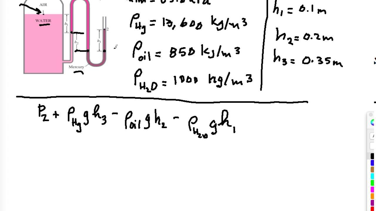 Fluid Static #3 Multifluid Manometer - YouTube