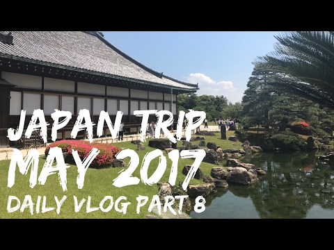 Japan - May 2017 - Daily Mini Vlog - Day 8 - Bullet train to Kyoto, exploring Kyoto