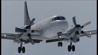 61 Years Old Convair 580 Landing + Takeoff at Quebec City Airport (YQB)