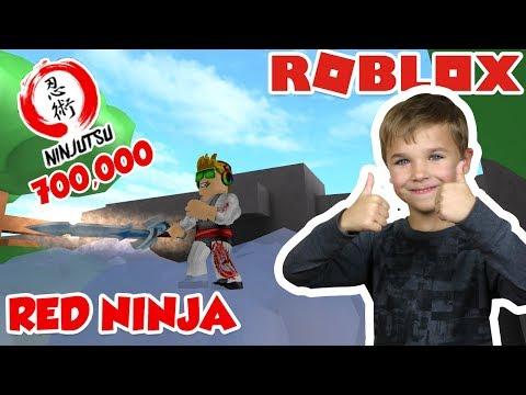 I AM RED NINJA ASSASSIN WITH A GIANT SWORD! 700,000 NINJUTSU (ROBLOX)